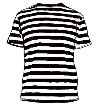 Camiseta Nino Rayas Negro