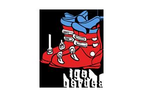 botas ski rojas
